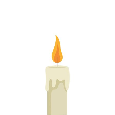 religious candle fire isolated icon vector illustration design Ilustração