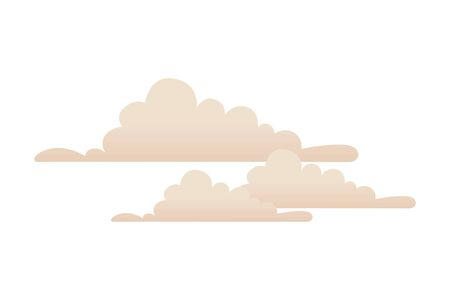 set clouds weather isolated icon vector illustration design