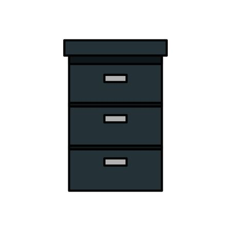 wooden drawer forniture isolated icon vector illustration design Stockfoto - 133080448
