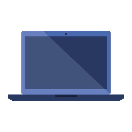 laptop computer device technology icon vector illustration design 向量圖像