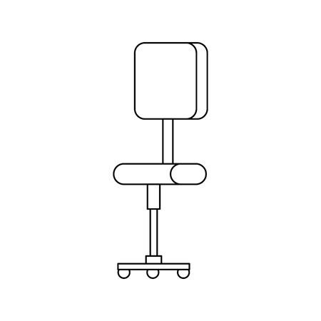 office chair equipment isolated icon vector illustration design Banque d'images - 133133922