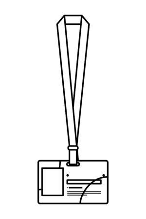 Insigne d'identification icône isolé conception d'illustration vectorielle