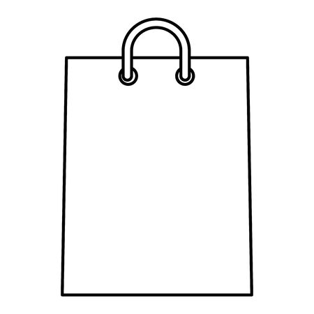 shopping bag paper isolated icon vector illustration design  イラスト・ベクター素材