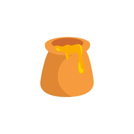 bottle delicious honey isolated icon vector illustration design