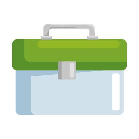 plastic tool box packing icon vector illustration design