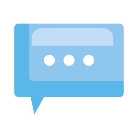 speech bubble message icon vector illustration design Stock Illustratie