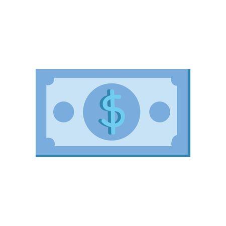 bill money dollar isolated icon vector illustration design Illustration