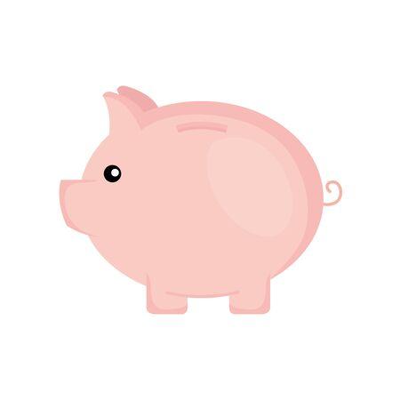 piggy savings money isolated icon vector illustration design