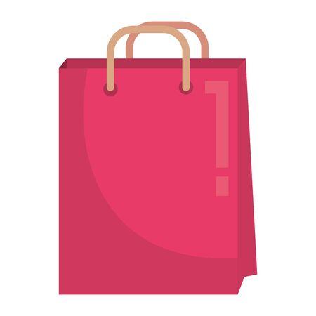 shopping bag paper commercial icon vector illustration design