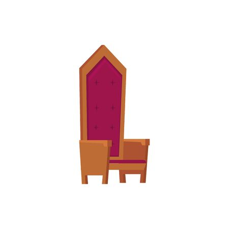 king chair fairytale isolated icon vector illustration design