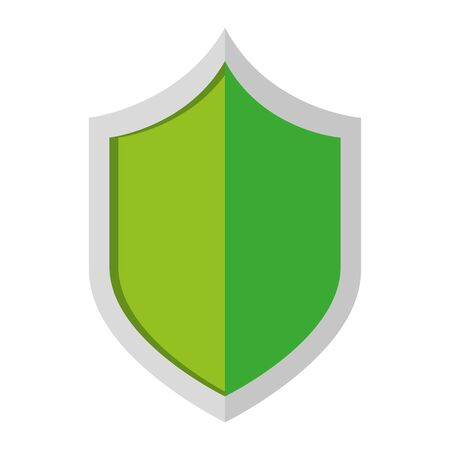 security shield guard isolated icon vector illustration design Stock Illustratie
