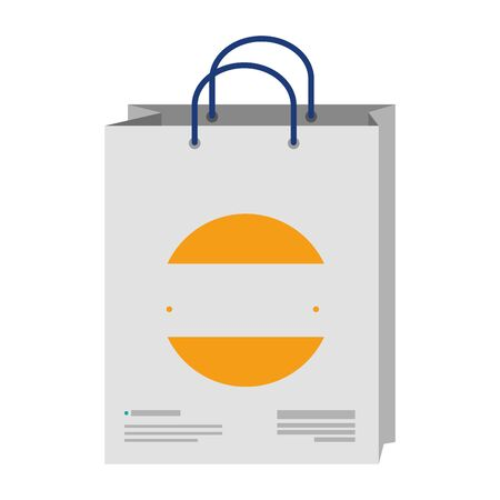 shopping bag with company emblem vector illustration design