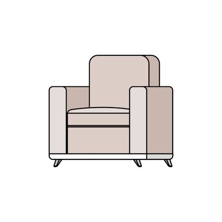 confortable sofa livingroom equipment icon vector illustration design 向量圖像