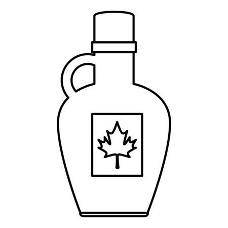 sweet maple syrup bottle product vector illustration design Standard-Bild - 133094557
