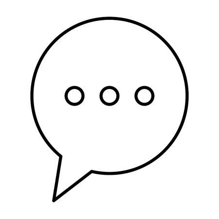 speech bubble message isolated icon vector illustration design Stock Illustratie