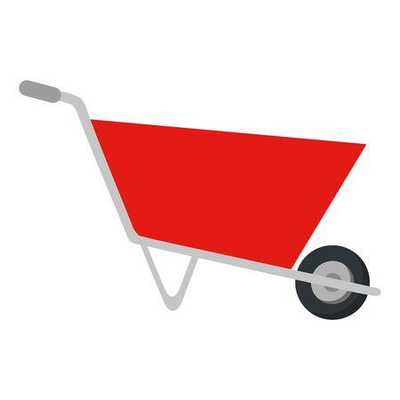 wheelbarrow construction tool isolated icon vector illustration design Çizim