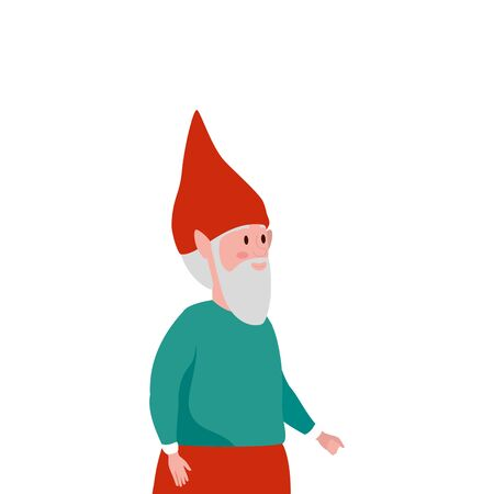 dwarf character fairytale isolated icon vector illustration design