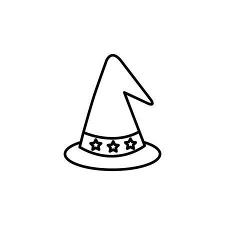 hat magician fantastic isolated icon vector illustration design