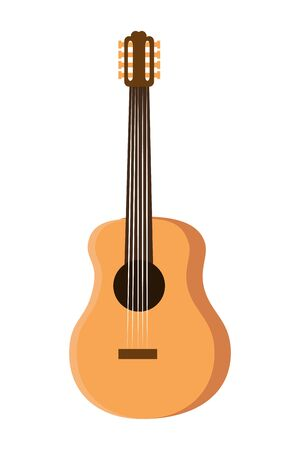 guitar musical instrument isolated icon vector illustration design Stok Fotoğraf - 133100878