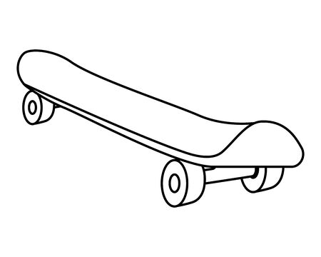 skate board sport element pictogram vector illustratie ontwerp