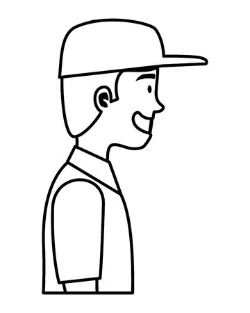 worker of delivery service character vector illustration design