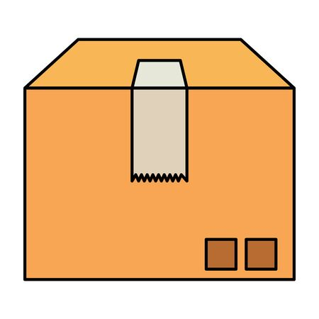 box carton packing delivery service vector illustration design