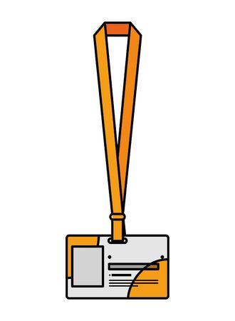 identification badge isolated icon vector illustration design Иллюстрация