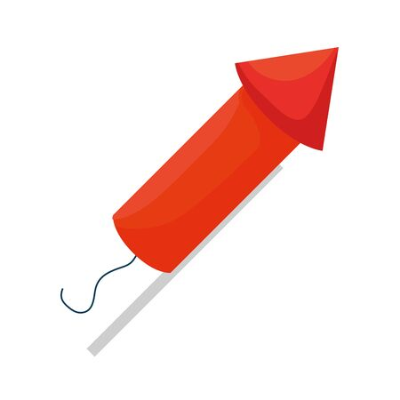 rocket fireworks celebration icon vector illustration design