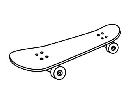 skate board sport element icon vector illustration design Archivio Fotografico - 133151370