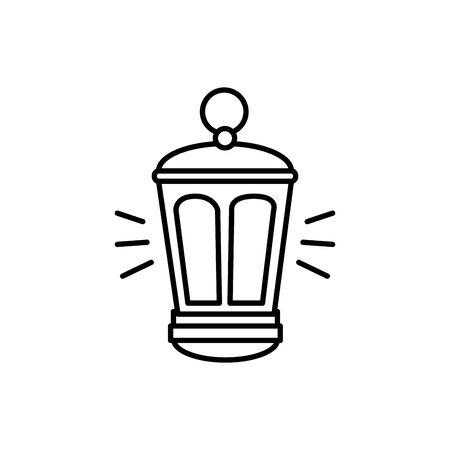 Diseño de ilustración de vector de icono aislado de equipo de linterna de queroseno Ilustración de vector