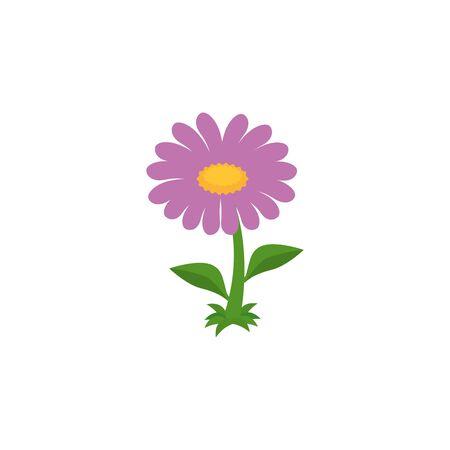 beautiful flower garden fairytale icon vector illustration design