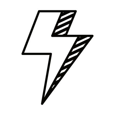 power thunder electric ray icon vector illustration design Stok Fotoğraf - 133151488