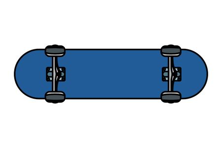 skate board sport element icon vector illustration design