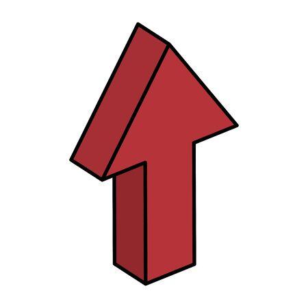pijl omhoog richting geïsoleerd pictogram vectorillustratieontwerp Vector Illustratie
