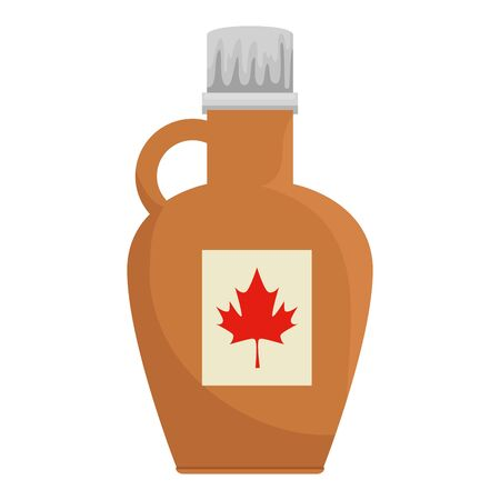 sweet maple syrup bottle product vector illustration design