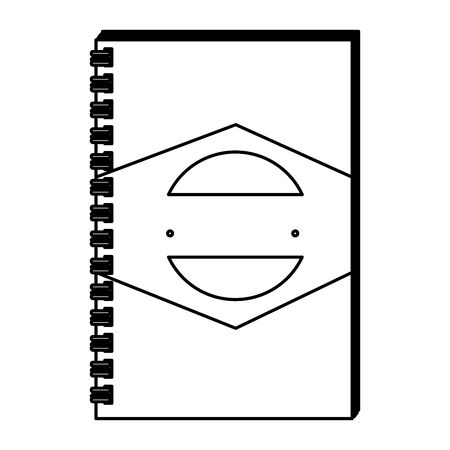 notepad with company emblem print vector illustration design Çizim