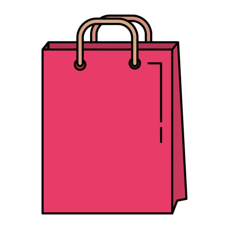 shopping bag paper commercial icon vector illustration design
