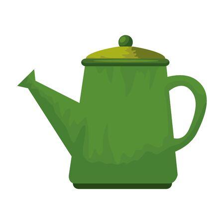 garden sprinkler pot plastic icon vector illustration design