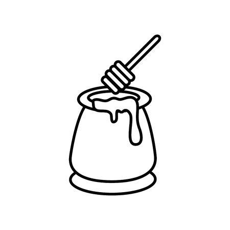 Bouteille de miel délicieux vecteur icône isolé illustration design