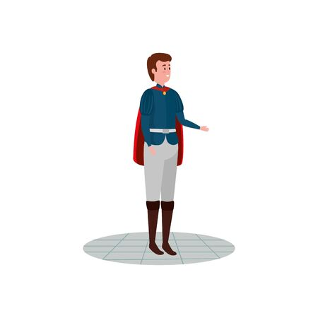 prince of fairytale avatar character vector illustration design