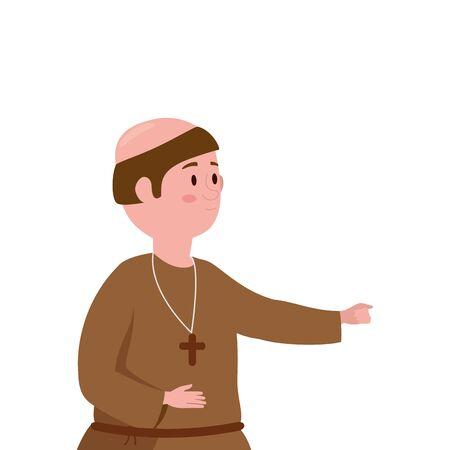 monk fantasy magic isolated icon vector illustration design Stockfoto - 133150934