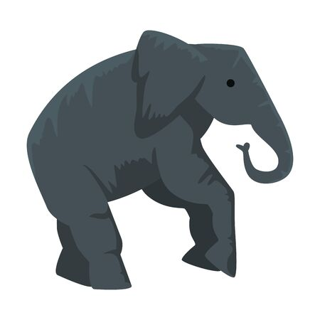 circus elephant animal character vector illustration design