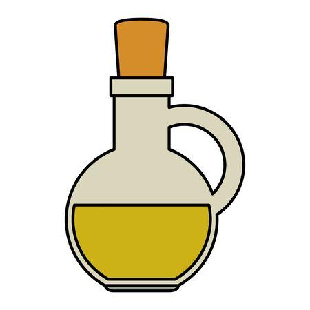 jar with olive oil icon vector illustration design Ilustração