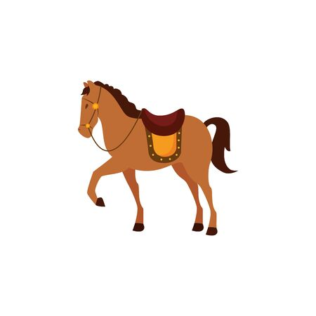 cute horse of prince animal vector illustration design