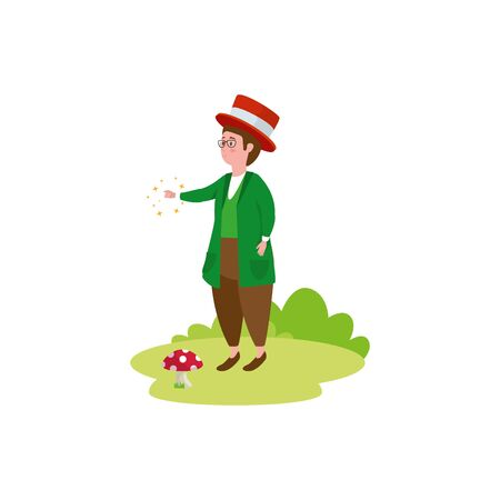 man character fantasy magic icon vector illustration design Vektoros illusztráció