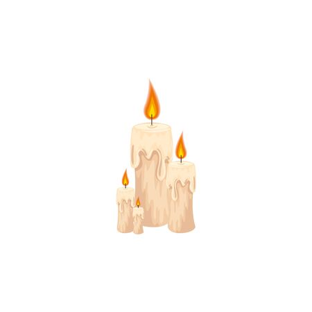 halloween candles decoration isolated icon vector illustration design