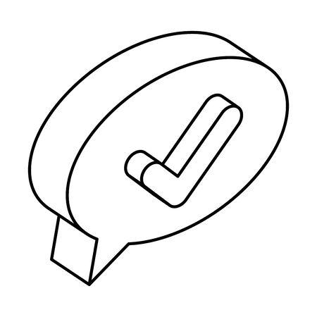 speech bubble with ok check symbol vector illustration design Archivio Fotografico - 133149701