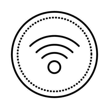 wifi waves signal isolated icon vector illustration design 스톡 콘텐츠 - 133178078