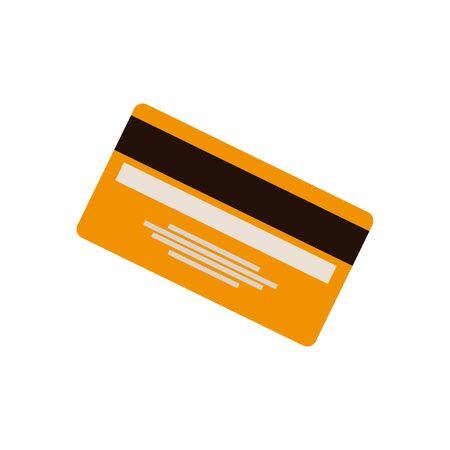 credit card money plastic icon vector illustration design Illusztráció