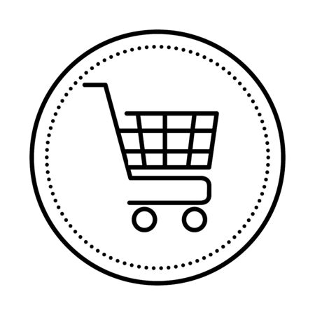shopping cart commercial isolated icon vector illustration design Illustration
